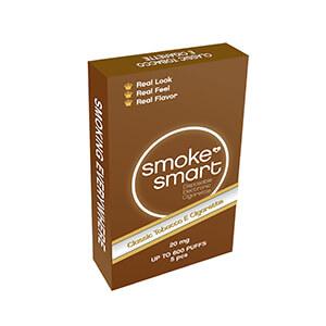 illustrasjonsbilde brun pakke med e-sigaretter classic