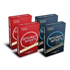 illustrasjonsbilde fire pakker med e-sigaretter dark og classic