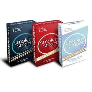 illustrasjonsbilde tre pakker med e-sigaretter dark, classic og uten nikotin