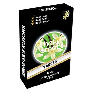 illustrasjonsbilde pakke med e-sigaretter med vanilje
